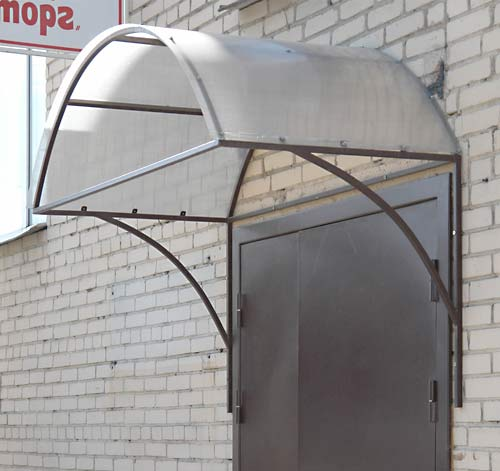 Козырек на дом арочный